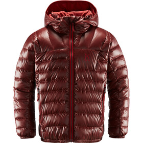 Haglöfs Bivvy Reversible Hood Jacket Kids maroon red/brick red